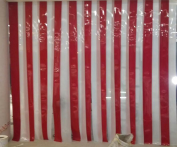 These Transparent Strip Curtains Are Also Available In Multiple Colours Like Aqua Blue Pale Green Yellow Etc
